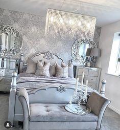 Grey Home Decor, Modern Decor, Beautiful Bedrooms, Beautiful Homes, Inspire Me Home Decor, Luxury Living, Luxury Homes, Sweet Home, Bedroom Decor
