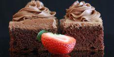 Denne myke og saftige sjokoladekaken er lagd i en liten langpanne i størrelse 27 x 38 cm. Kefir, Cake Recipes, Food And Drink, Eat, Cakes, Baking Soda, Mudpie, Cake, Pastries