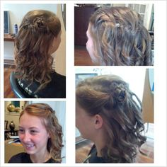 A lovely look for graduation- waterfall braid