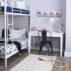 Twin over Twin Sturdy Steel Metal Bunk Bed in White Finish Metal Daybed, Metal Bunk Beds, Solid Wood Platform Bed, Platform Bed Frame, Twin Bunk Beds, Kids Bunk Beds, Bunk Bed Designs, Bed Frame And Headboard, Steel Metal