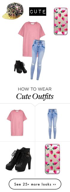 """Cute Outfit ♡"" by glittergorgeous1989 on Polyvore featuring moda, Casetify e…"