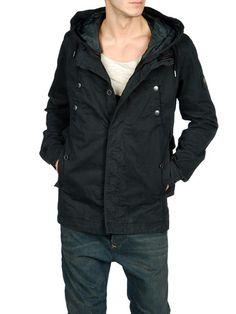 Diesel - Plain weave, Hooded neckline, Single button cuffs, Four pockets, Two internal jacket pockets, Hidden buttons, Lined interior, Logo details  Composition  100% Cotton