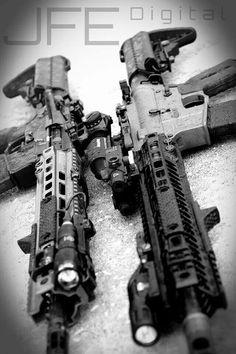 Assault rifles  these look fun