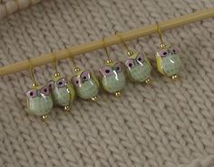 Knitting Stitch Markers snag free ceramic by lavenderhillknits, $11.00. I love these so pretty.