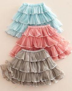 cute layered skirts.