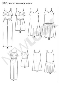 Pattern Reviews> New Look> 6373 (Misses' Jumpsuit or Romper and Dresses)