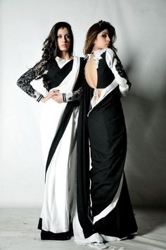 Nice Black and Silver Sarees Fashion