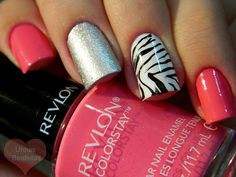 Zebra Nails :D Totally have this color :)