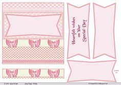 50s style card in Pinks 1 by Jayne Amoah This A4 design sheet has a 6in - 15.24cm - square image with a sentiment, I have added blank ones of differnt sizes that is big enough to stamp and add your embellishment.