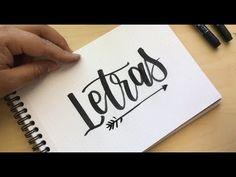 Hand Lettering en Español - Letras Minúsculas 2 - YouTube