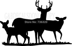 2015 New arrival Tree Deers Wall sticker Buck Doe Deer Family Hunting Decal Vinyl Decal African