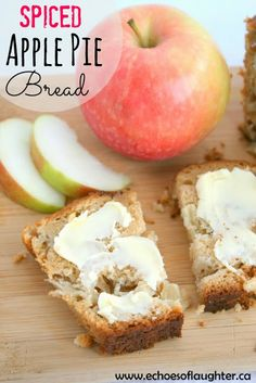 Spiced Apple Pie Bread-easy & delicious! Can be made as muffins, loaf or 2 mini-loaves!