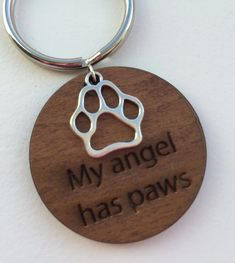 In memory of Pet, Pet Memorial, Loss of pet, My Angel Has Paws personalized keychain, perfect for dog lover. Tribal Tattoos, Tattoos Skull, Dog Tattoos, Tatoos, Dog Birthday Gift, Friend Birthday, Memorial Tattoos, Dog Memorial, Pet Loss