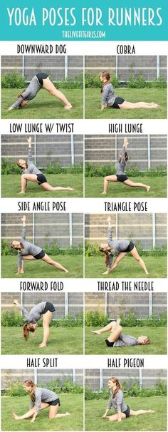 The Best Yoga Poses for Runners...stay flexible and prevent injuries with these stretches #YogaRoutinesandPoses #YogaPostures,RoutinesAndPoses