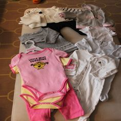 Awesome bundle fit for Girls 3-6 months including a hoodie, jumpers, and assorted onesies! #finds #babyclothes #girls #shopping #deals #marketplace #parents