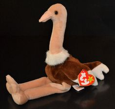 TY Beanie Babies #Stretch the #Ostrich Rare Mint MWMT Retired 1997 #Ty