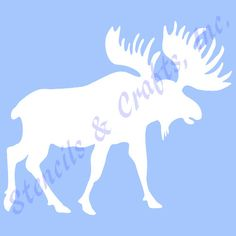 """4"""" MOOSE STENCIL NORTHWOODS animal template templates animals stencils background pattern craft scrapbook paint art new by sunflower33 on Etsy https://www.etsy.com/listing/229692282/4-moose-stencil-northwoods-animal"""