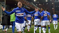 @Sampdoria giogia di Eder con tutta la Samp ei tifosi blucerchiati #9ine
