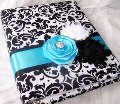Bridal Shower Gift Recording Book  Black and White by itsmyday, $40.00