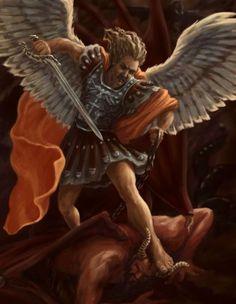 San Miguel en contra del maligno
