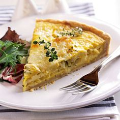 Quiche With Leeks and Baby Potatoes - 25 Great Brunch Recipes - Health Mobile