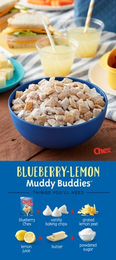 Start planning your summer picnic with NEW Gluten-Free Blueberry Chex! Ready in just 15 minutes, Blueberry-Lemon Muddy Buddies has a light sweetness perfect for summer picnics. A seasonal twist on our classic Muddy Buddies recipe, Blueberry-Lemon Muddy Buddies is your summer picnic in the making.