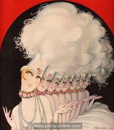 *art deco illustration of chorus line by charles gesmar 1924