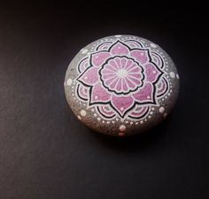 Hand painted mandala stones, perfect for your altar, for meditation or as a healing stone. Each stone is hand painted and lovingly infused
