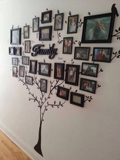 50+ Best Family Inspired Home Decor Ideas and Designs for 2021 Family Tree Mural, Family Tree Photo, Photo Tree, Family Photos, Picture Tree, Family Portraits, Images Murales, Tree Stencil, Trendy Tree