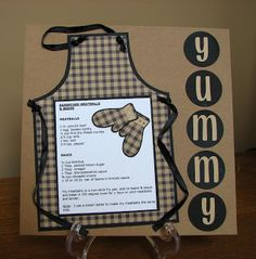 Craftalicious Header: RECIPE SCRAPBOOK PG. 1!! This would be a great page in a Recipe scrapbook or Dad's Day Gift with BBQ Recipes gathered from Family & Friends!