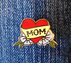 """Mom lapel pin--1"""""""