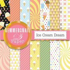 Hey, I found this really awesome Etsy listing at https://www.etsy.com/listing/194662499/ice-cream-digital-paper-ice-cream-dream