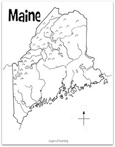 state of maine coloring page | Select an image, print, and ...