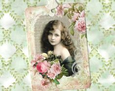 Note Cards Vintage Style Victorian Girl Roses by luvcrystals Vintage Fashion, Vintage Style, Note Cards, Victorian, Angel, Trending Outfits, Unique Jewelry, Handmade Gifts, Blog