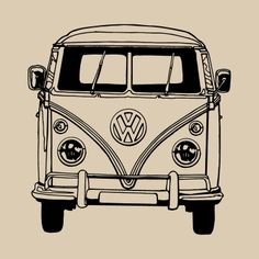 VW Bus Coloring Pages Printable. VW bus is the second line of the motor vehicle presented by the German car manufacturer Volkswagen, in Volkswagen Bus, T3 Vw, Volkswagen Transporter, Volkswagen Beetles, Combi Hippie, Van Hippie, Van Drawing, Vans Vw, Combi Ww