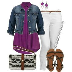 Curvy & Petie (plus size) fashion. Oufit works for any season.   G;)