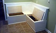 dining bench seat with storage - Google Search