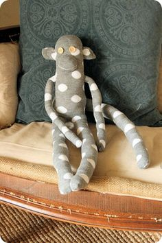 polka dot sock monkey  via JDC jones design company