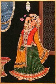 Dance: The Living Spirit of Indian Arts Pichwai Paintings, Mughal Paintings, Indian Art Paintings, Ganesha Painting, Tanjore Painting, Indian Women Painting, Rajasthani Painting, Vintage Dance, Madhubani Art