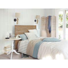 Bettwäschegarnitur OCÉAN aus Baumwolle, 220 x 240 cm, weiß