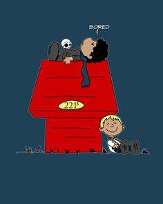 """""""The new Sherlock."""" THIS IS AMAZING. #Sherlock #CharlieBrown one of my favorite shirts."""