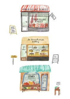 Amsterdam & Co - illustration by Bodil Jane