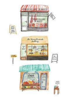 Amsterdam & Co - illustration by Bodil Jane