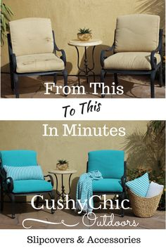 Refresh Tired Patio Cushions In Minutes With CushyChic Outdoor Cushion  Slipcovers. Good For Our Environment