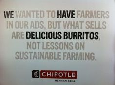 Chipotle's branding and advertising