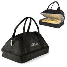 Baltimore Ravens Two-Tiered Casserole Tote - POTLUCK CASSEROLE TOTE