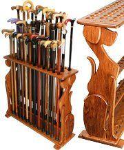 cane stand Wooden Walking Sticks, Walking Sticks And Canes, Walking Canes, Cool Canes, Talking Sticks, Walking Staff, Cane Handles, Cane Stick, Wooden Projects