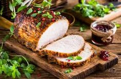 Roasted pork loin with cranberry and marjoram by nioloxs IFTTT grill loin meal pork restaurant roasted baked basil braised closeup cook cooked cranbe Pork Pot Roast, Pork Loin, Pork Tenderloin Recipes, Pork Recipes, Cooking Recipes, Recipies, Pork Restaurant, How To Cook Pork, Pork Dishes