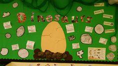 Going on a dinosaur hunt! A dinosaur and fossil themed display wall. Class Displays, School Displays, Museum Displays, Classroom Displays, Dinosaur Activities, Dinosaur Crafts, Dinosaur Fossils, Dinosaurs Eyfs, Dinosaur Display