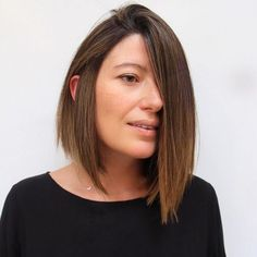 "Stylist: Liz SustaitaSalomirez | TranWhat to ask for: A sharp, super-blunt, A-line bob""This cut looks perfectly symmetrical when parted in the middle, but gives the illusion of an asymmetric cut when parted to the side,"" Sustaita says. ""It's edgy, chic, and versatile."" Unless you plan to blow out your hair daily, this cut is best for straight locks. Your stylist should adjust the cutting technique based on hair weight. ""If your hair is"